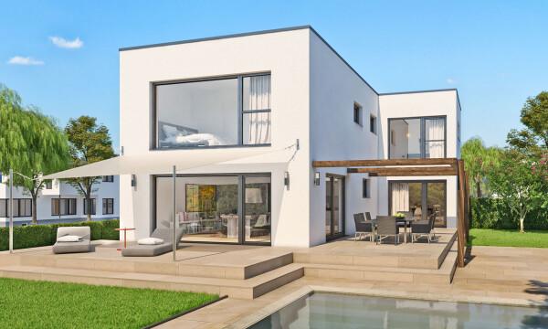 Flachdach malli haus for Haus modern flachdach